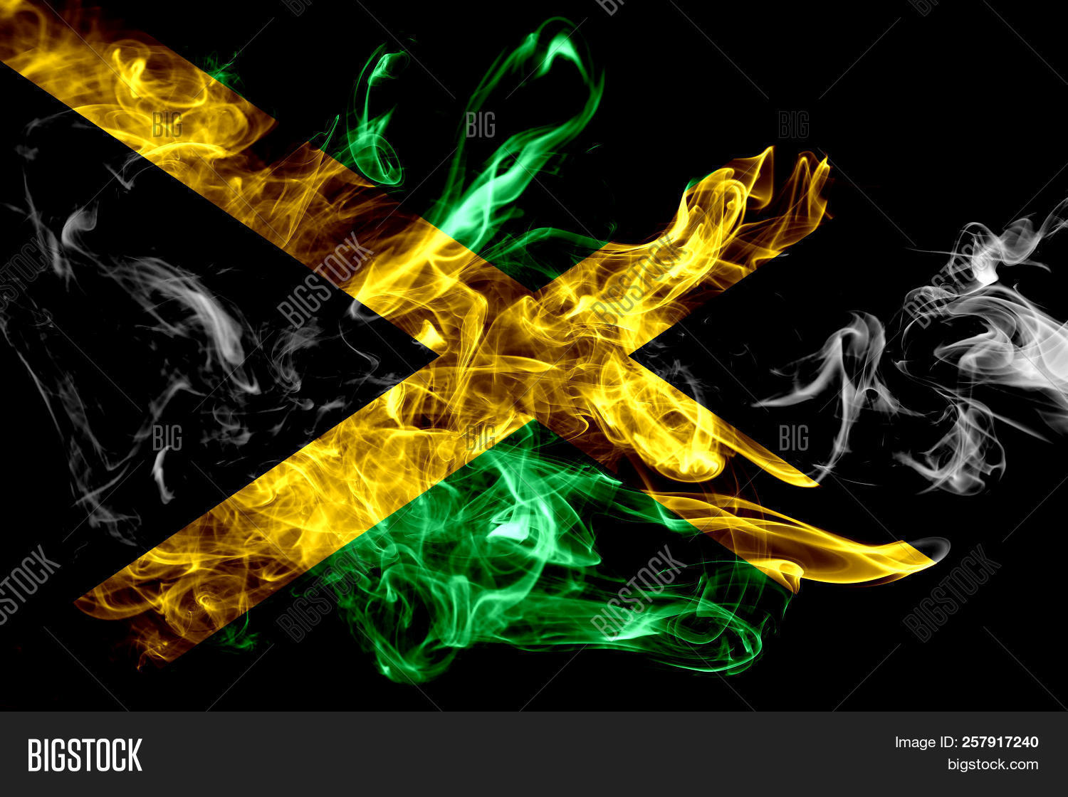 National Flag Jamaica Image Amp Photo Free Trial