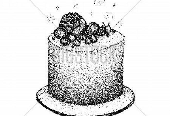 Dotwork Birthday Cake Vector Photo Free Trial Bigstock