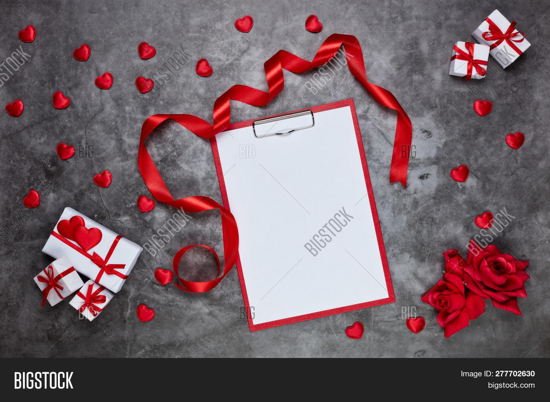 decorative red hearts image photo