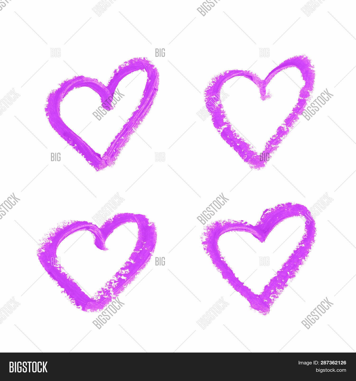 Heart Shape Outline Image Photo Free Trial Bigstock