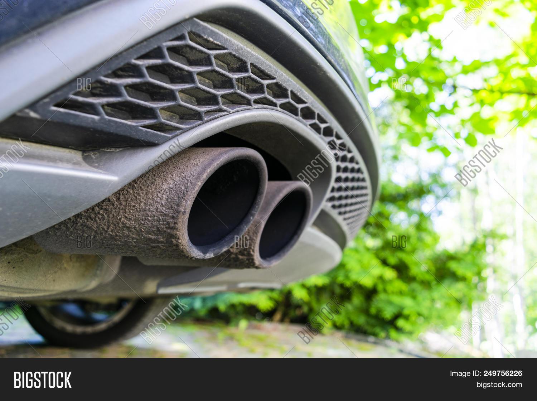 close car dual exhaust image photo