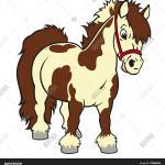 Cartoon Pony Horse Vector Photo Free Trial Bigstock