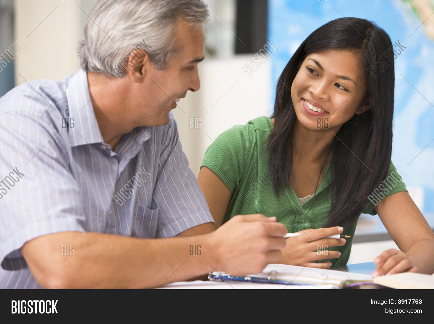 Teacher Giving Personal Instruction Image Amp Photo