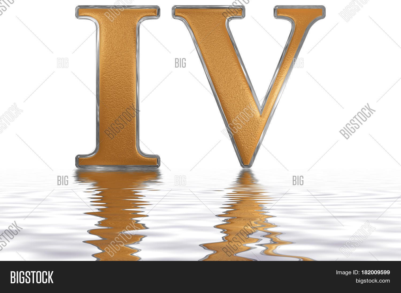 Roman Numeral Iv Quattuor 4 Four Image Amp Photo