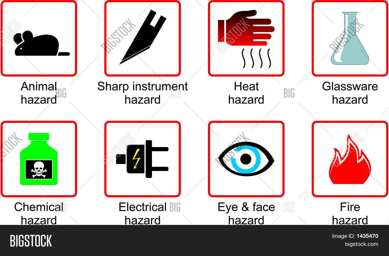 Laboratory Safety Symbols Vector Amp Photo