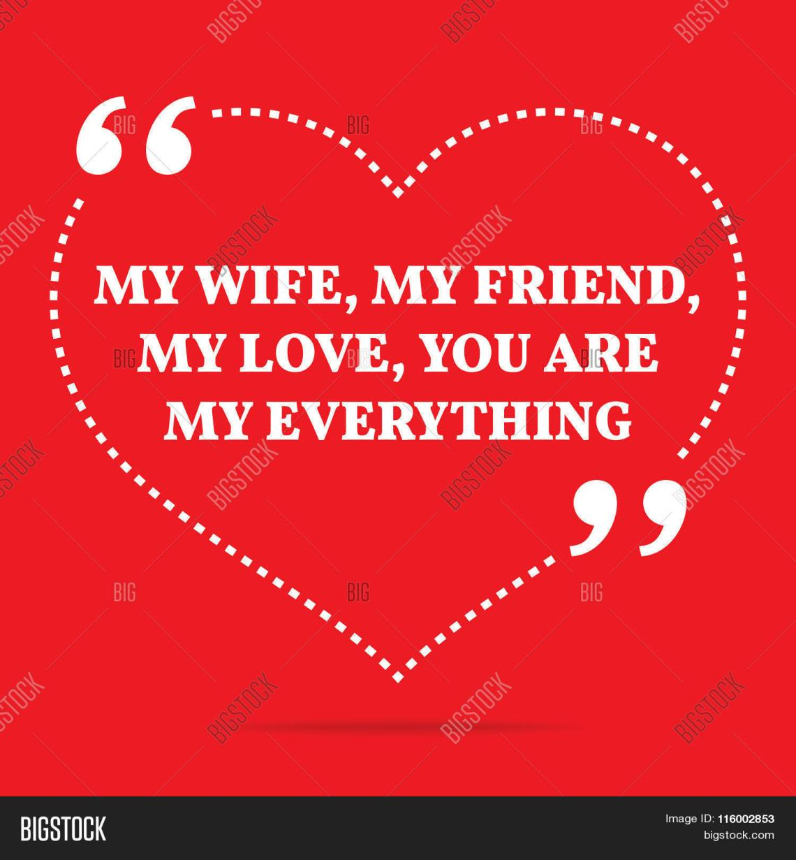 Download Inspirational Love Quote. My Wife Vector & Photo | Bigstock