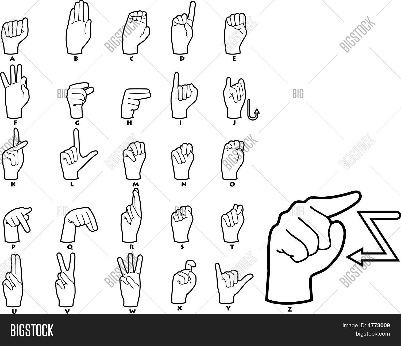 Sign Language Alphabet Stock Vector Amp Stock Photos