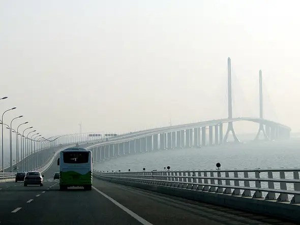 $1.8 BILLION: The Shanghai Yangtze River Tunnel and Bridge is the fifth longest cable-stayed bridge in the world