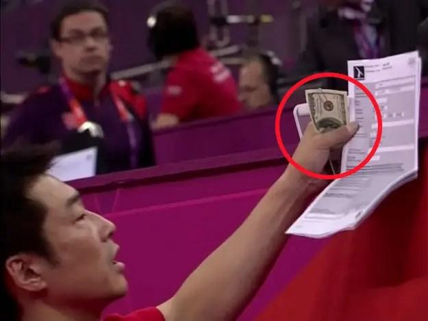 Nader Nazemi-Japanese Coach giving Judges Money-Nader Nazemi