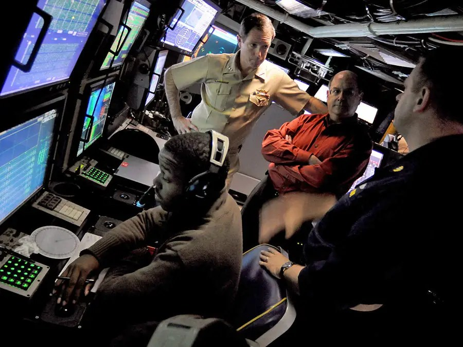The command center on the Virginia subs are much more spacious compared previous submarines