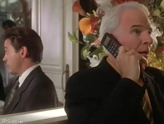 """1999: Steve Martin turned his car phone into a cell phone in """"Bowfinger."""""""
