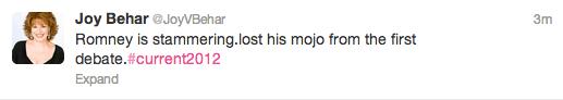 joy behar tweet