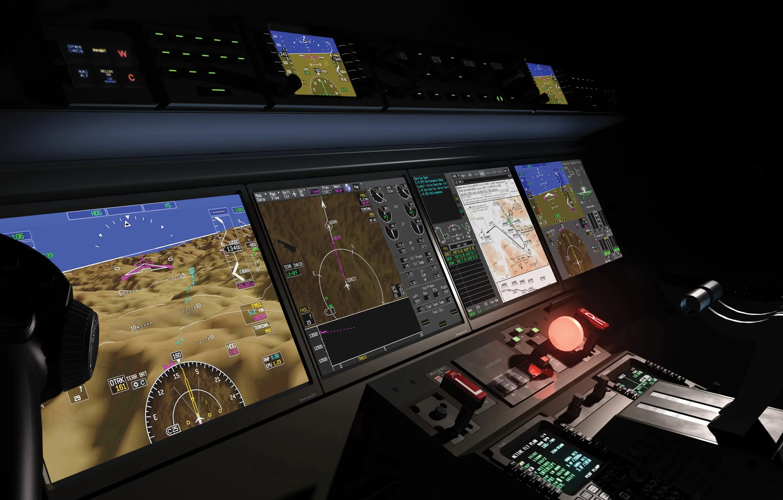 Utiliza cámaras de infrarrojos y un sistema de visión mejorada para hacer volar en condiciones meteorológicas adversas más seguras.