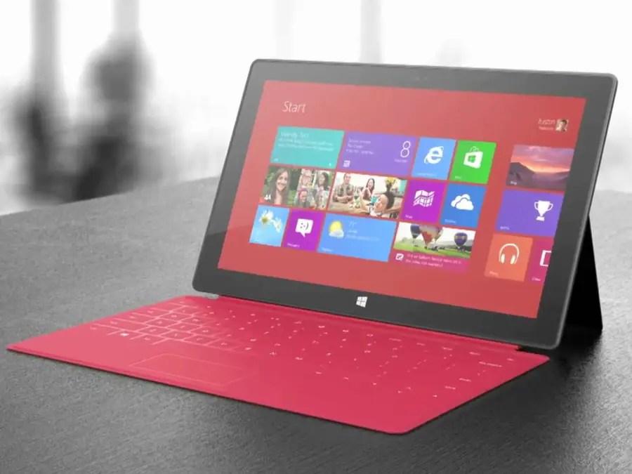 microsoft surface red screenshot