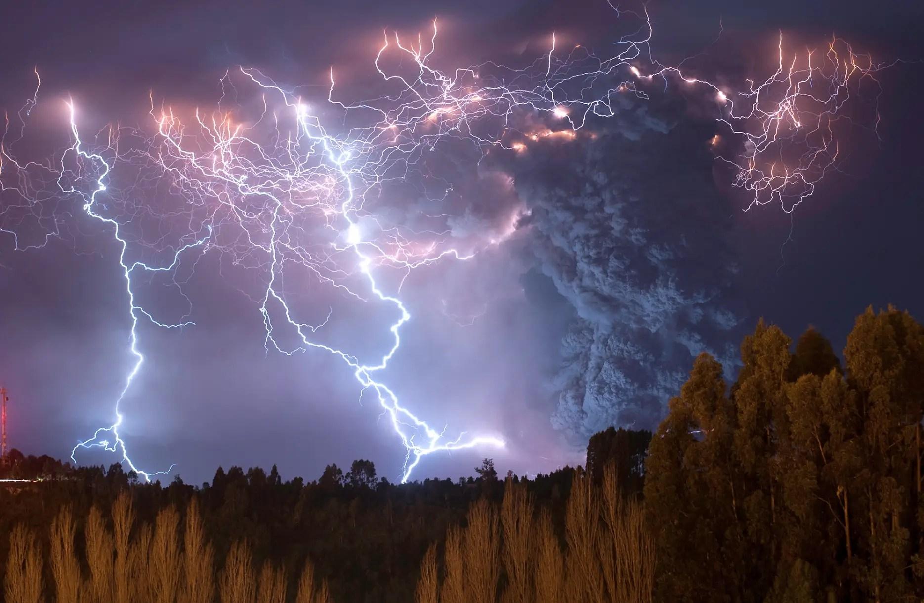 Tormenta en el Caulle, Chile