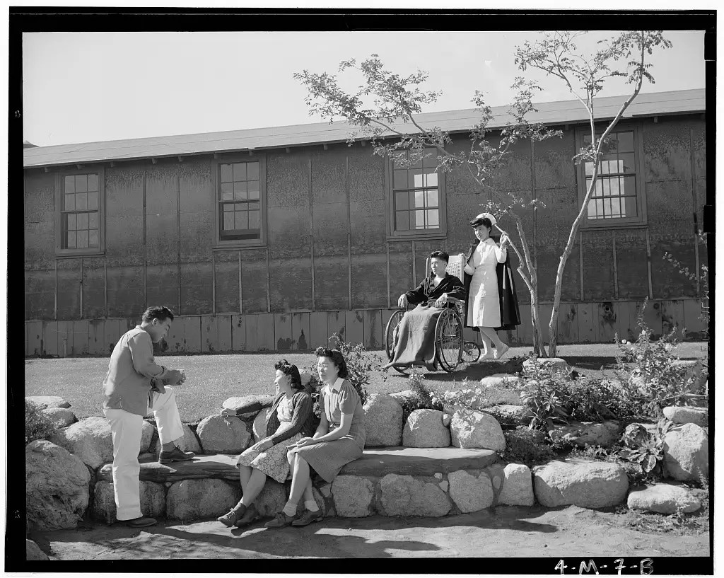 At the outset of World War II, the American government feared subversive actions by Japanese American citizens and began moving them to relocation camps.