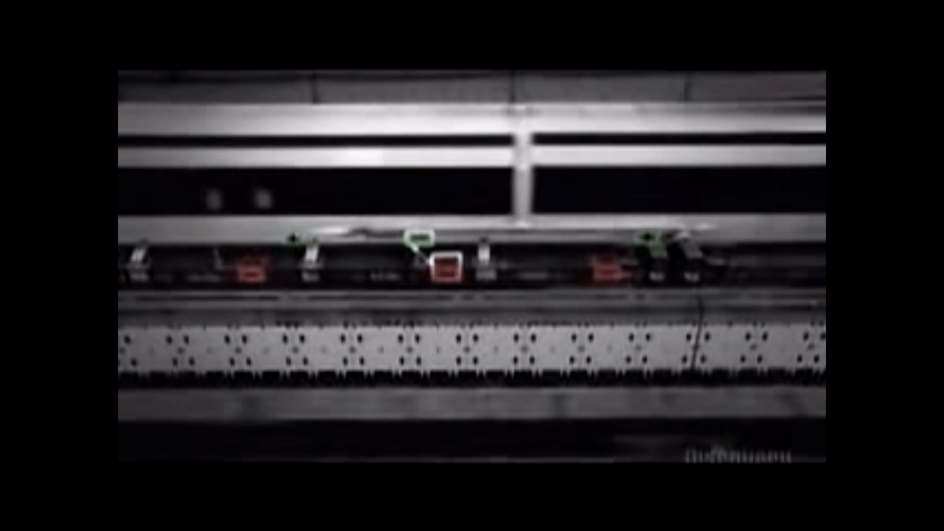 The mag-lev track is designed such that appropriate sides of magnets in the track (red) face the magnets in the train car (green) such that they repel each other and the train can levitate.