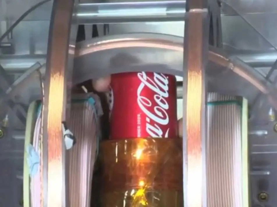 coke in liquid scanning machine