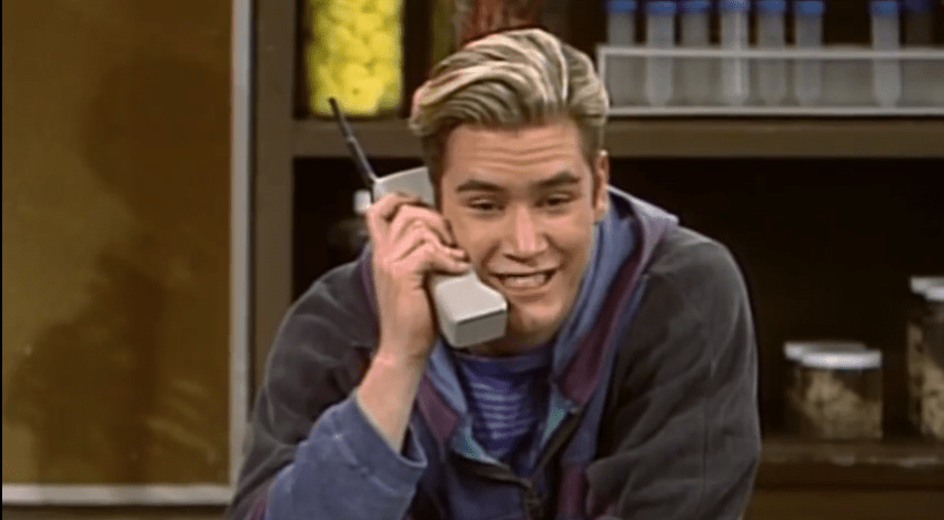 The popularity of mobile phones went bananas in the '90s. Of course, most were huge and chunky, including the ones made famous by Zack Morris in