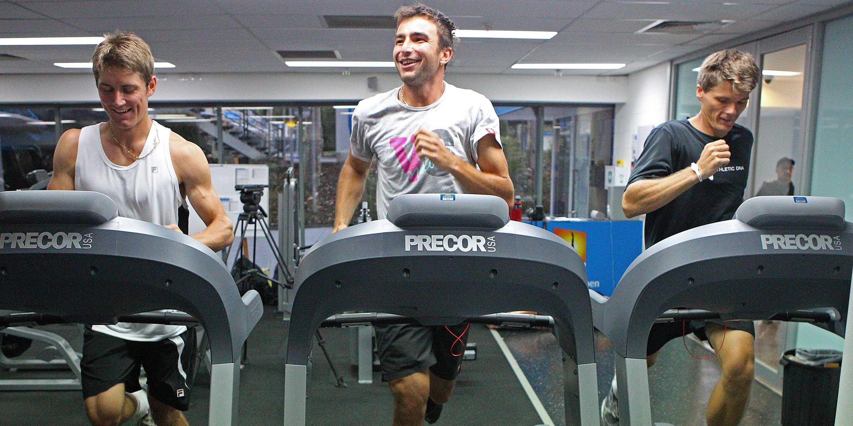 treadmill running workout gym exercise men