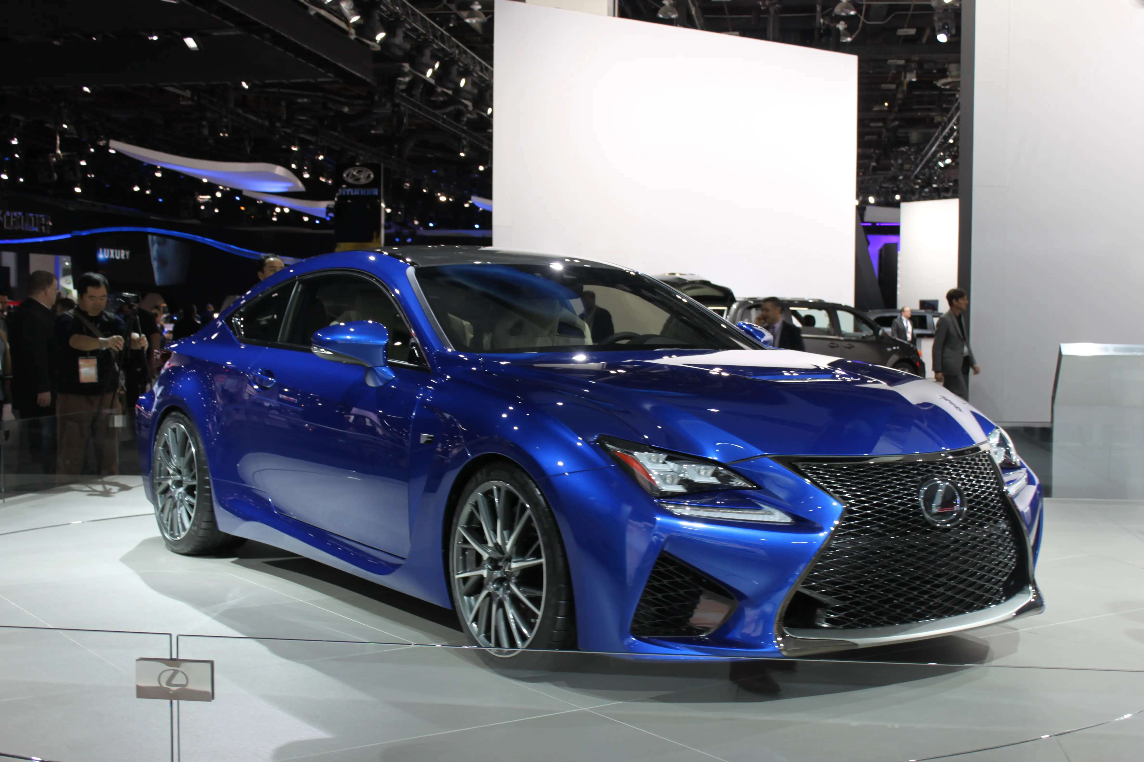 Lexus pulled the covers off the 2015 RC F performance coupe, a sleek rear-wheel driver with a V8 engine that generates over 450 horsepower. Our favorite bit is the huge, shiny spindle grille.