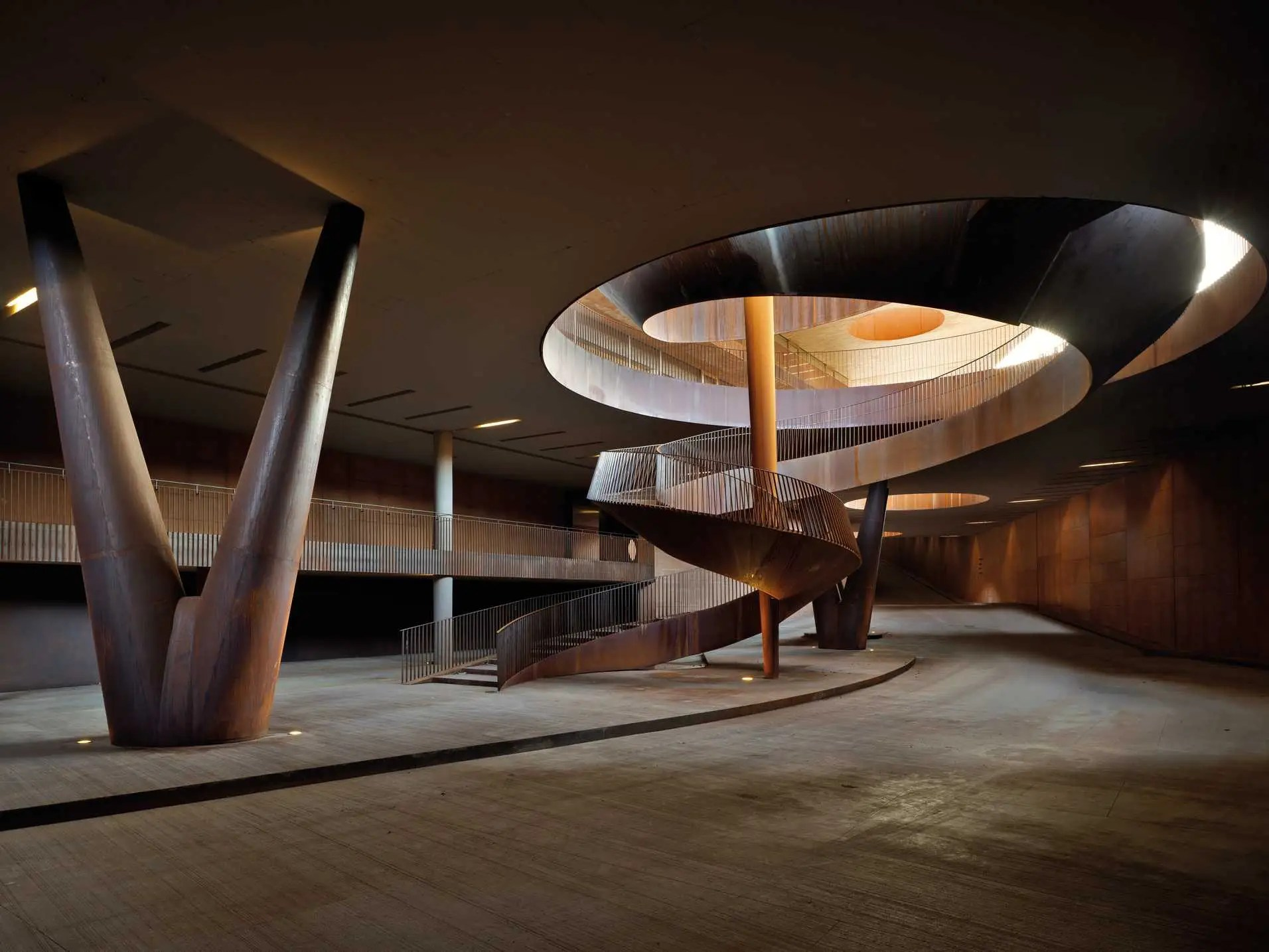 BEST INDUSTRIAL ARCHITECTURE: Antinori Winery, a winemaking complex near Florence, Italy.