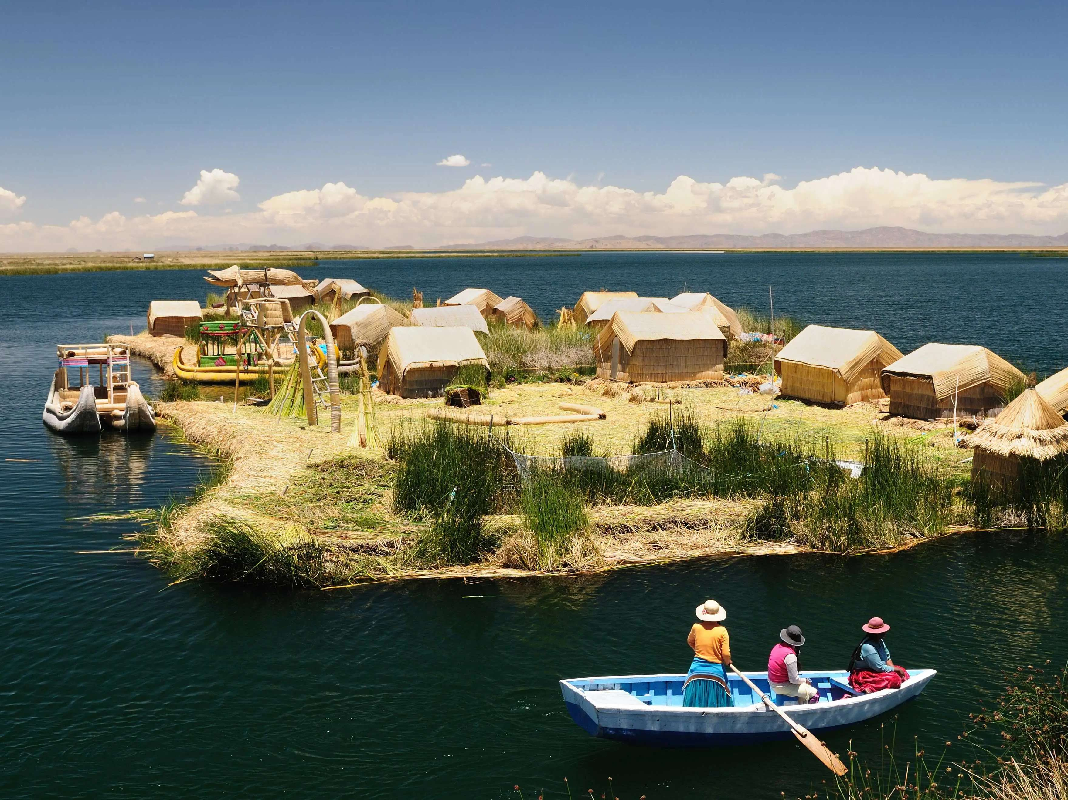 Step onto the floating islands of Lake Titicaca, which are still inhabited by the indigenous Uros people.