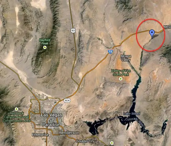 Bundy Ranch map