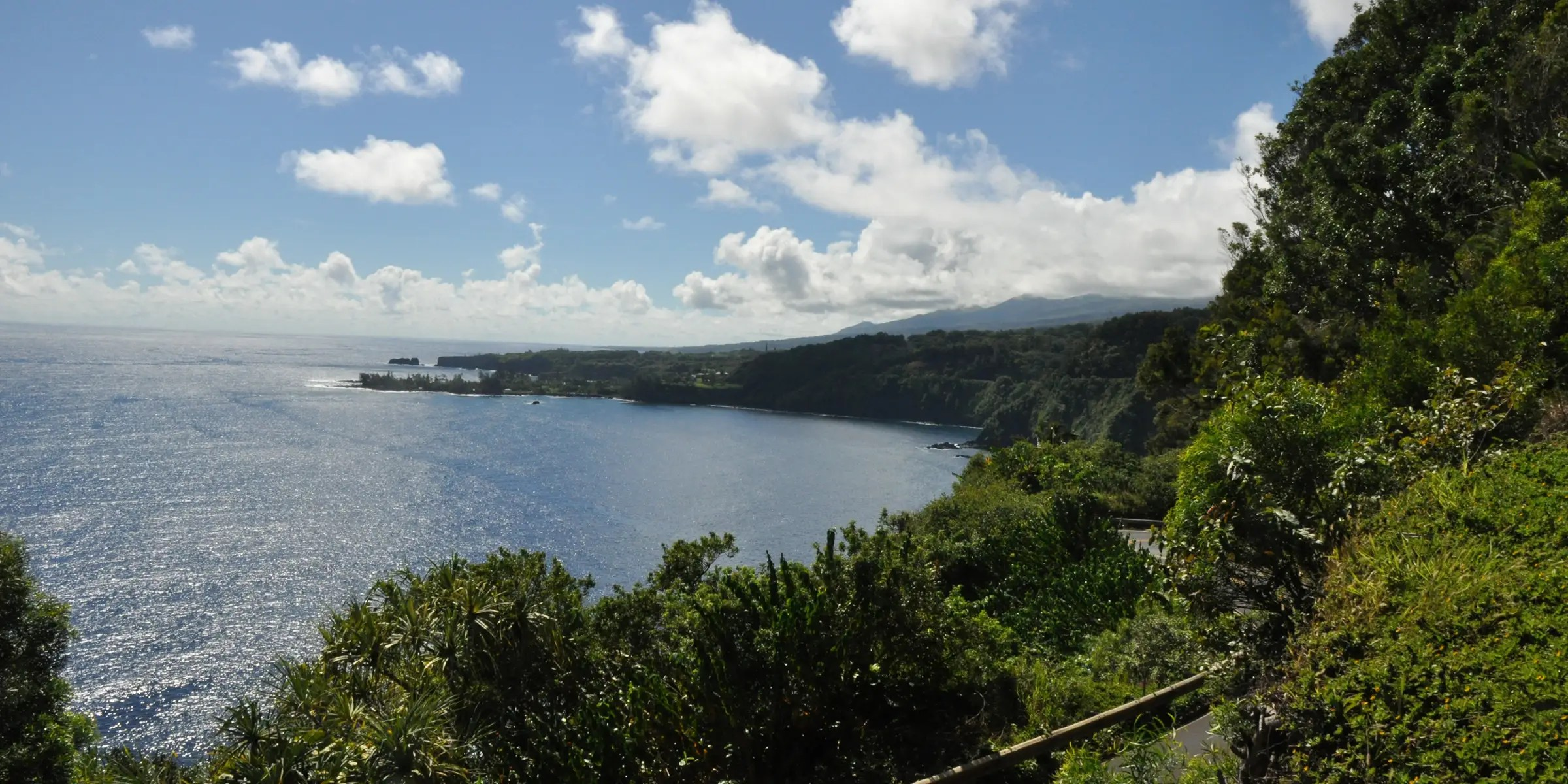 Hana Highway in Hawaii travels along Maui's coastline and consists of 620 sharp turns and 59 bridges. You'll experience a variety of views, including waterfalls, rain forests, and, of course, the ocean.