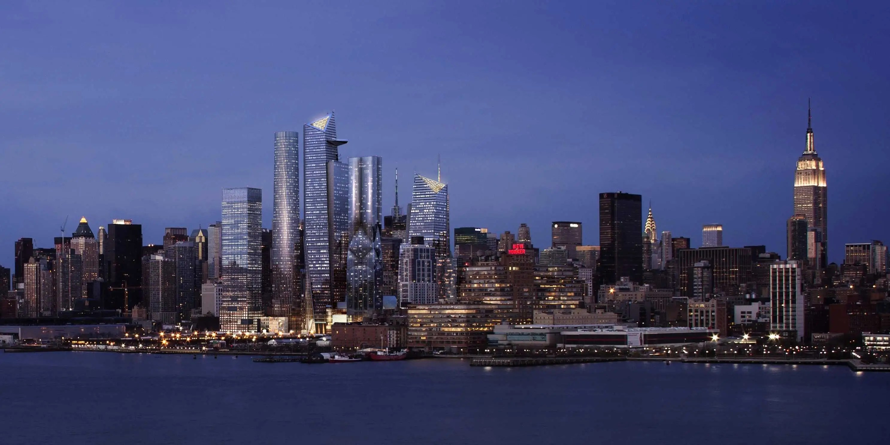 Evening View Of Hudson Yards, From The Hudson River (c) Related Oxford