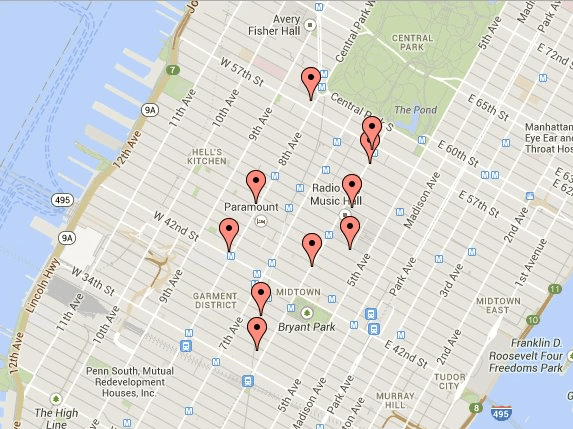 Duane Reade iBeacon Locations