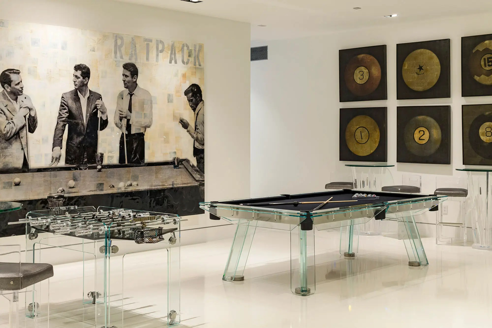 It's a haven for game lovers, with a pool table and foosball.