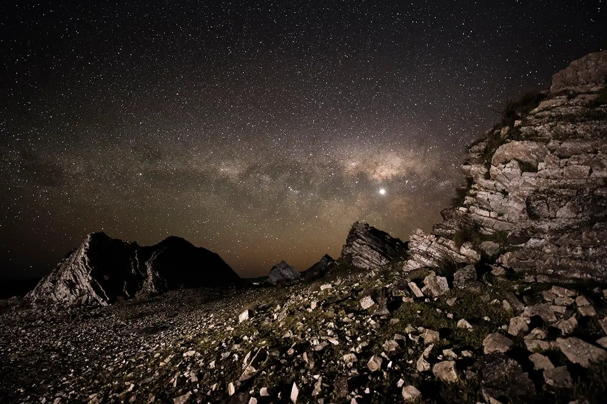 While deep in the remote Wairarapa district of New Zealand, Chris Murphy got this amazing shot of the Milky Way with rock formations in the foreground. This shot earned Murphy the Sir Patrick Moore Prize For Best Newcomer.