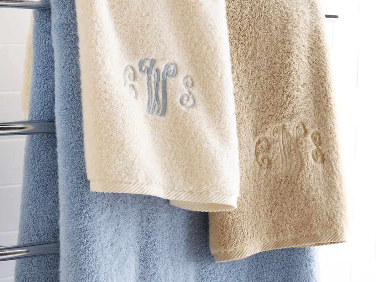 Soft, luxurious towels are a bathroom essential. You'll appreciate them and your guests will, too. Monogramming is optional, but it's worth the splurge.
