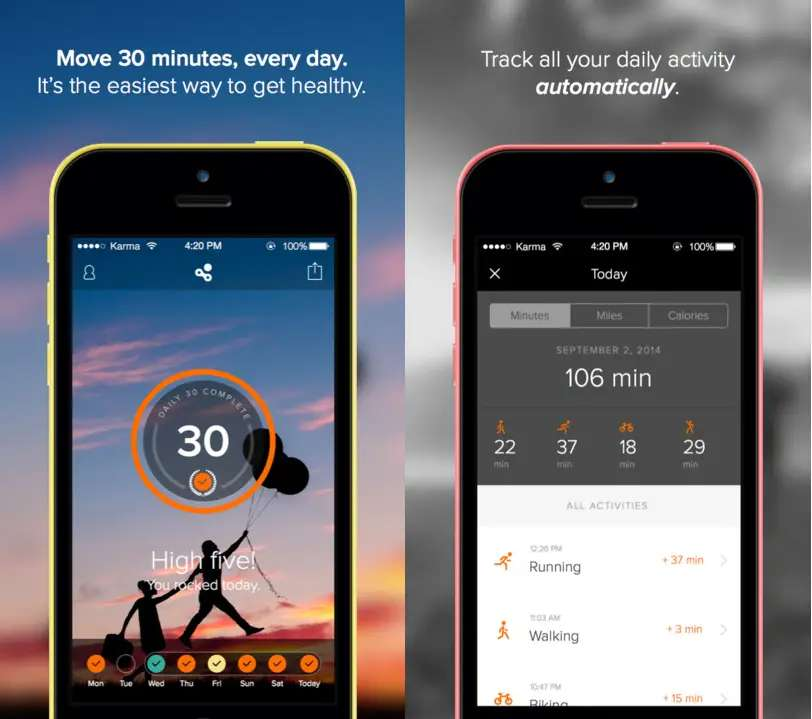 Human is an activity tracker that asks you to move at least 30 minutes a day.