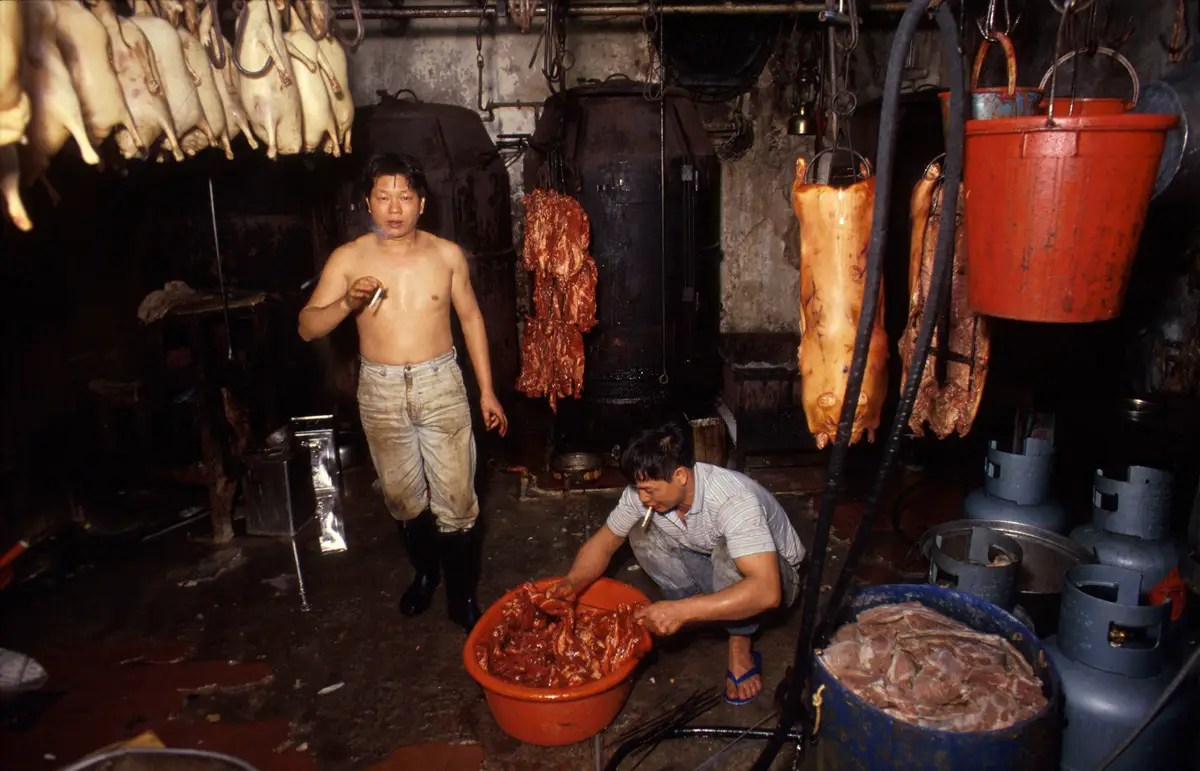The lack of regulations was even more important for the many meat processors in Kowloon.