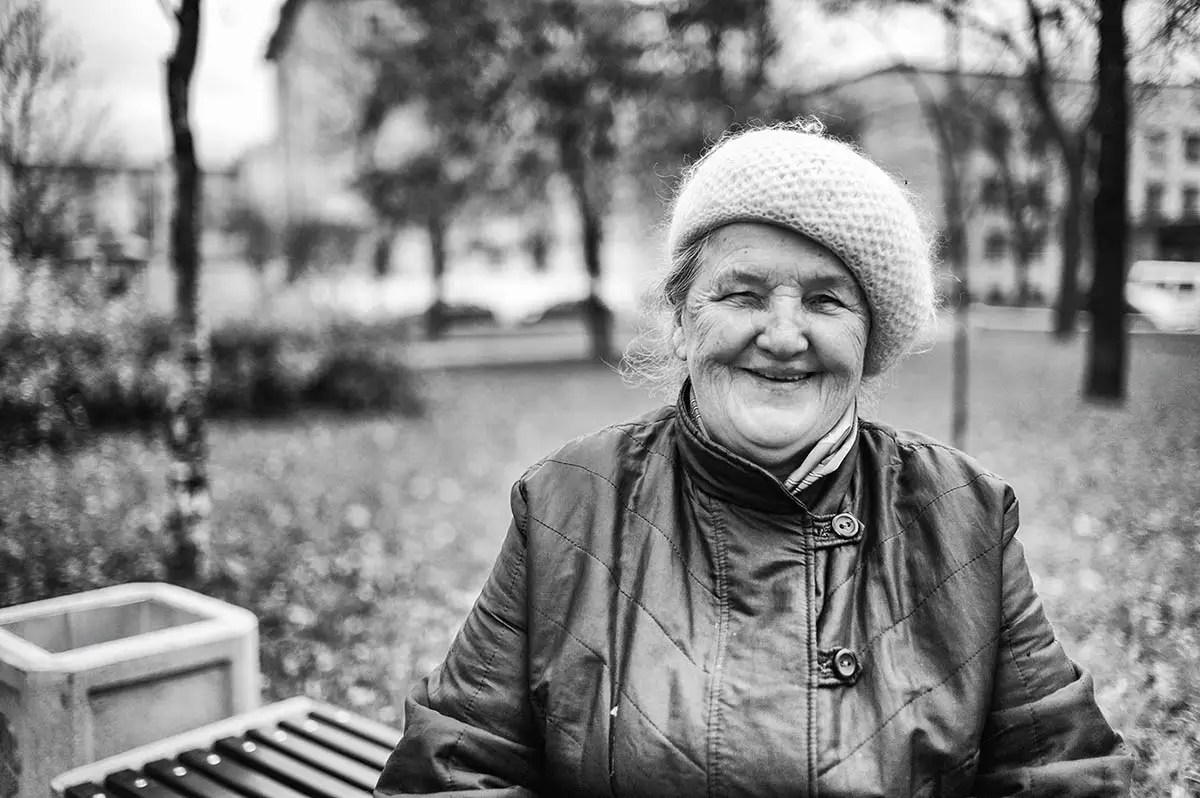 """Zoya, age 81. Profession: Shop assistant. Passion or Dream: """"I want to have a good health and I like embroidery."""""""