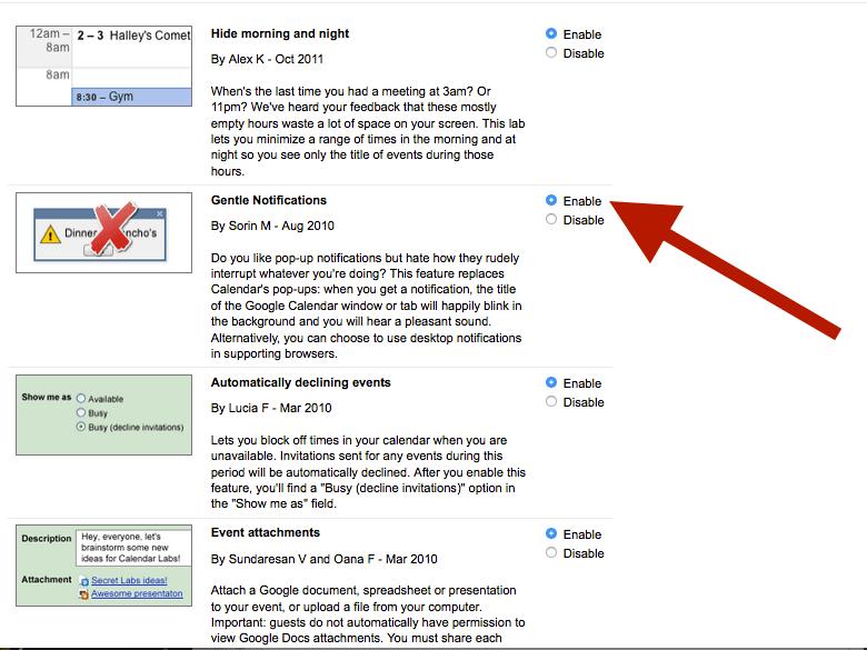 Get kinder, gentler pop-up notifications
