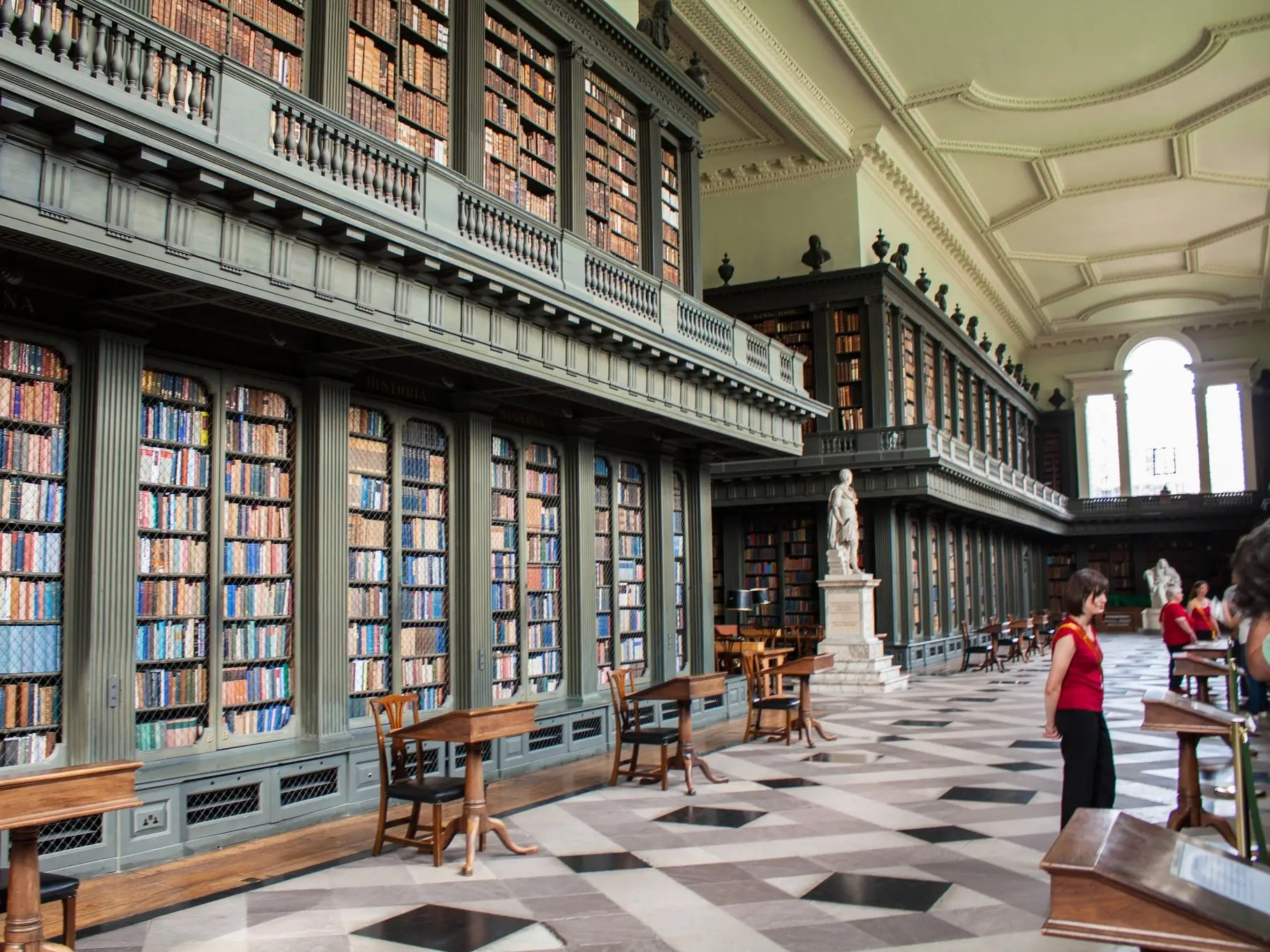 Housed in the College of All Souls of the Faithful Departed at Oxford College in England, the Codrington Library was completed in 1752 thanks to a monetary donation from British solider Christopher Codrington. Codrington also donated his personal collection of 12,000 books.
