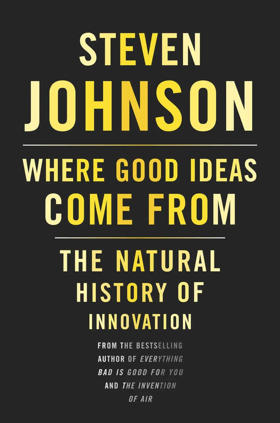 """""""Where Good Ideas Come From"""" by Steven Johnson"""