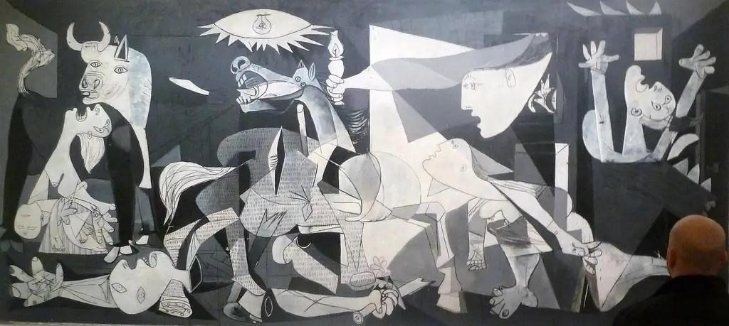 "Le ""Guernica"" de Picasso au Museo Nacional Centro de Arte Reina Sofía à Madrid, en Espagne."