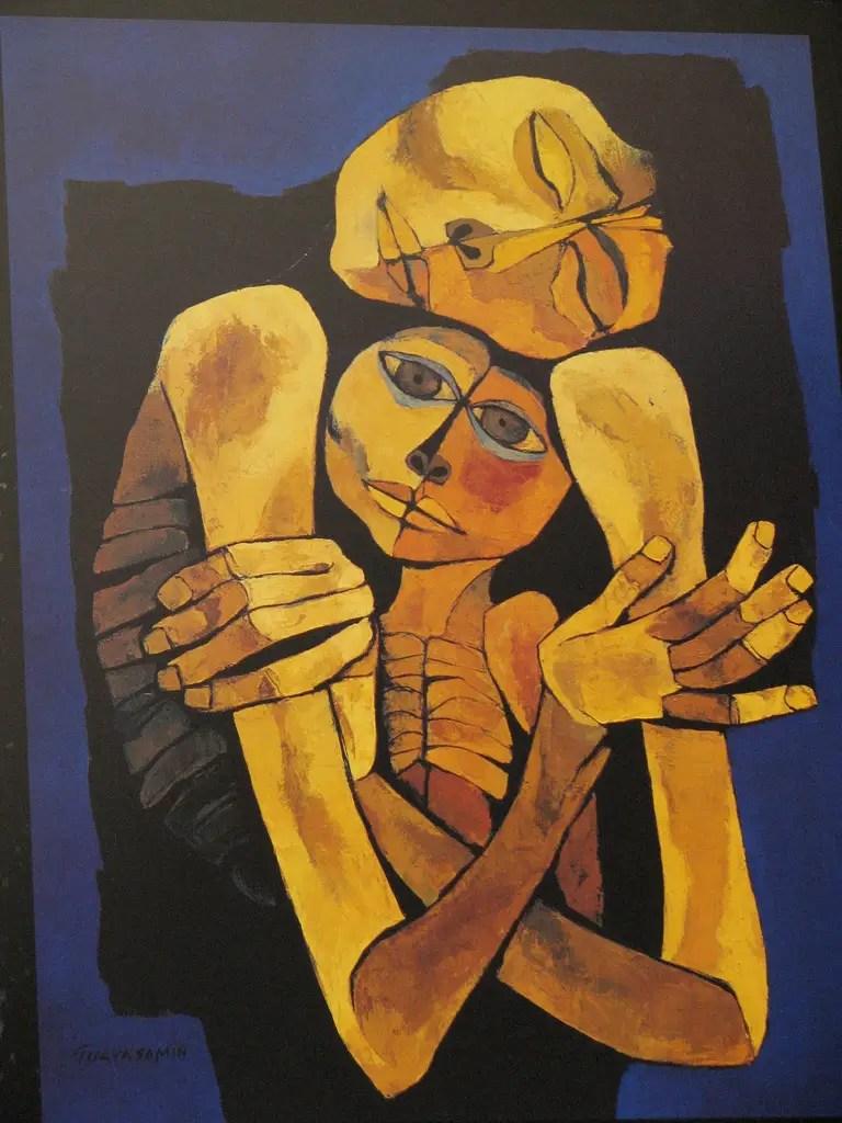 """La collection """"Ternura"""" d'Oswaldo Guayasamín à Museo Fundación Guayasamín à Quito, en Équateur."""