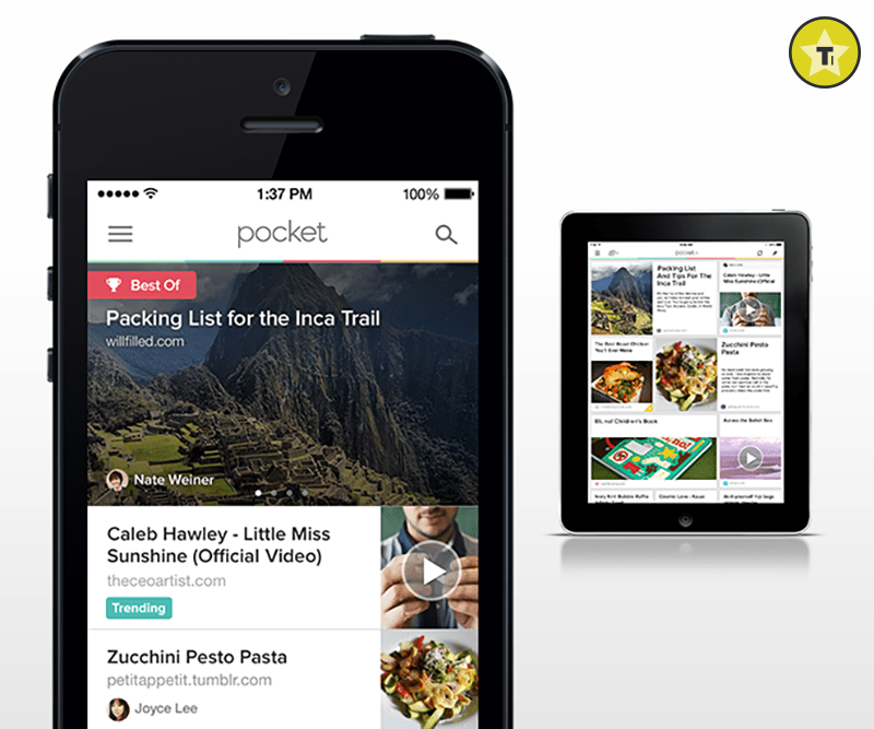 Pocket will help you save articles to read later.