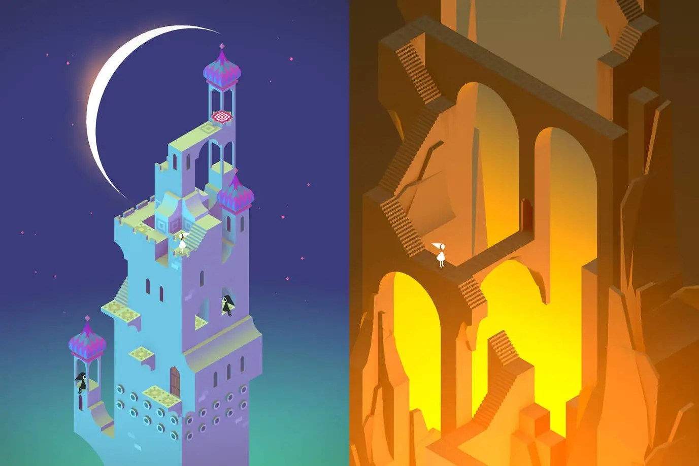 Monument Valley is a beautiful puzzler.