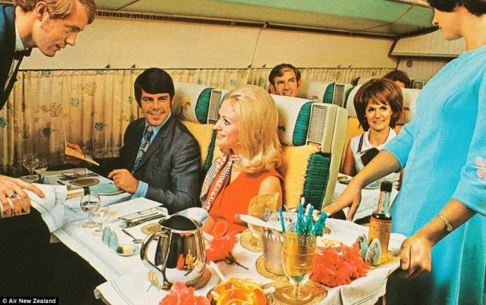 Up until 1978, laws required that every US airline charge the same price for identical routes. Airlines needed a way to differentiate themselves from the competition, and high-quality cuisine in economy and first class was a way to do that.