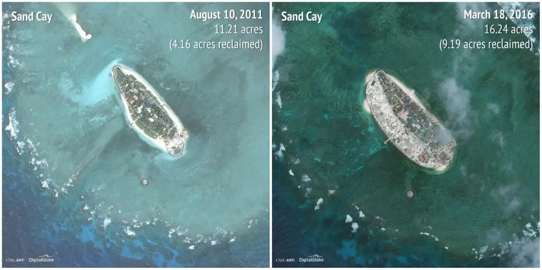Sand Cay: 2011 - 2016