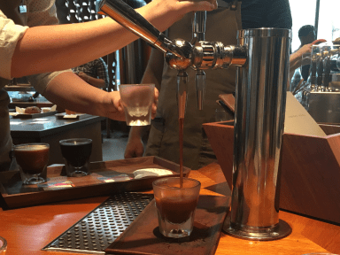 Starbucks' nitro cold brew, which rolled out at 500 locations last summer, was first tested at the Roastery and quickly became one of the top-selling drinks there.