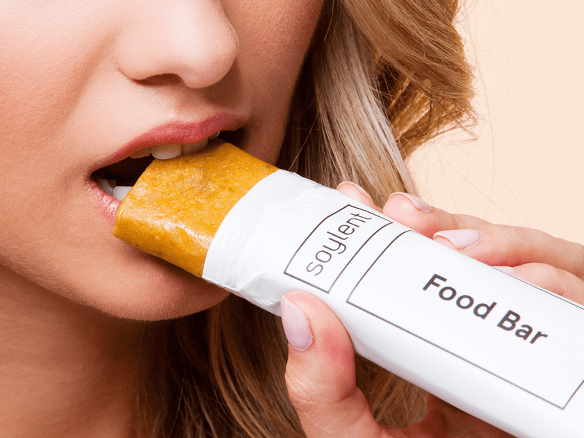 October: Soylent's meal replacement bars make people violently ill.