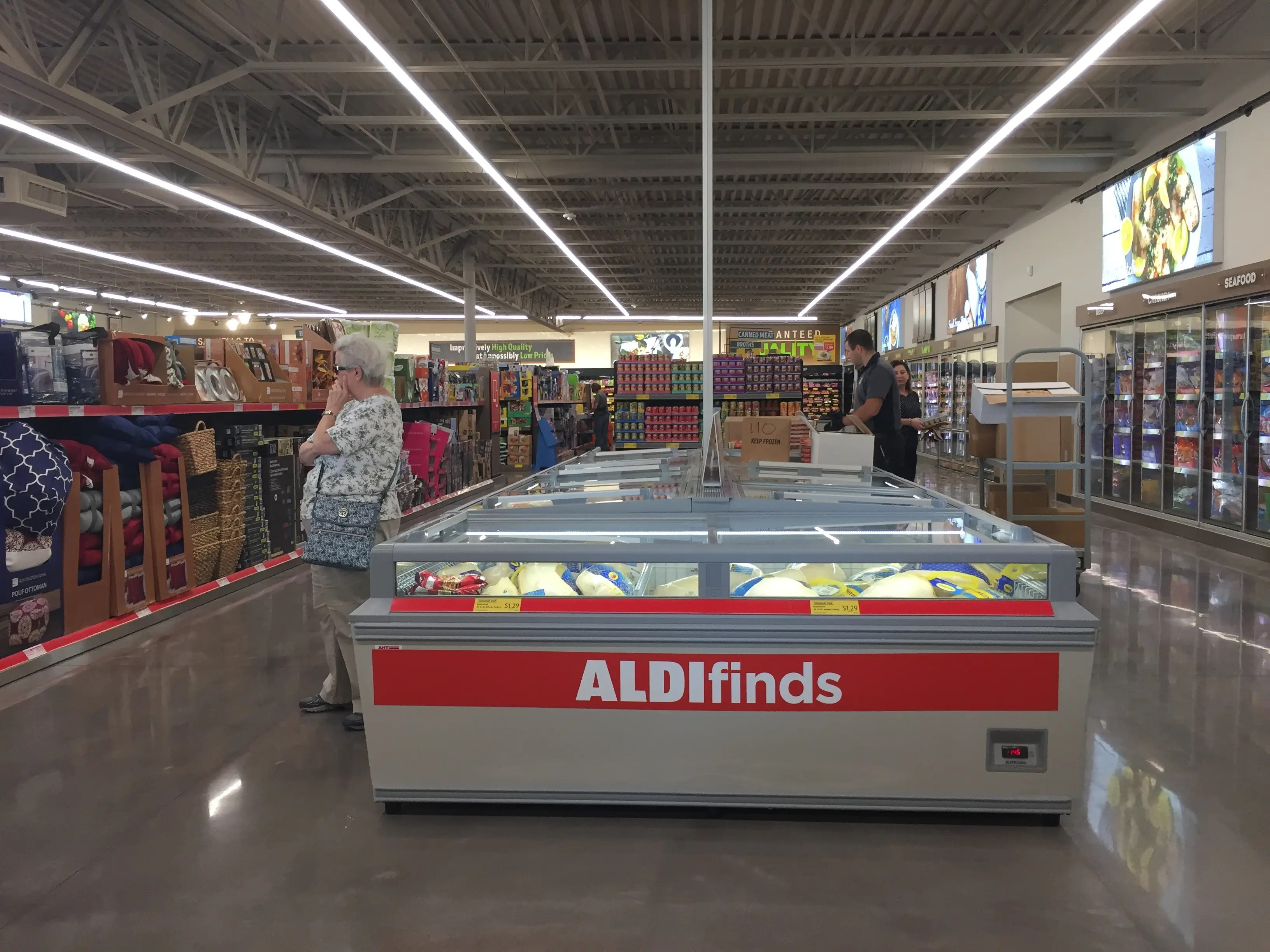Unlike 365, however, Aldi sells home goods like pillows and holiday decorations.