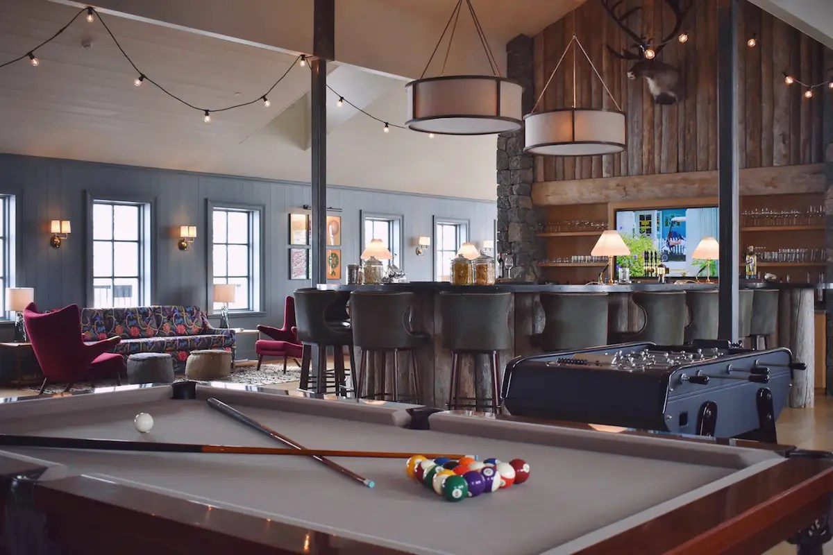 You can also play a game of pool after dinner in the main lobby ...